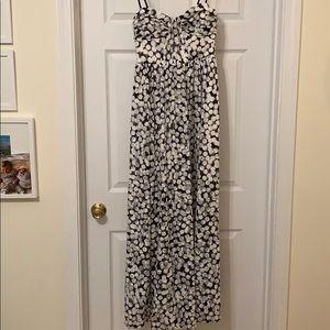 Betsy Johnson Navy & White dress w optional straps